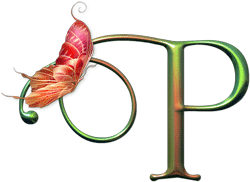 letra con mariposa