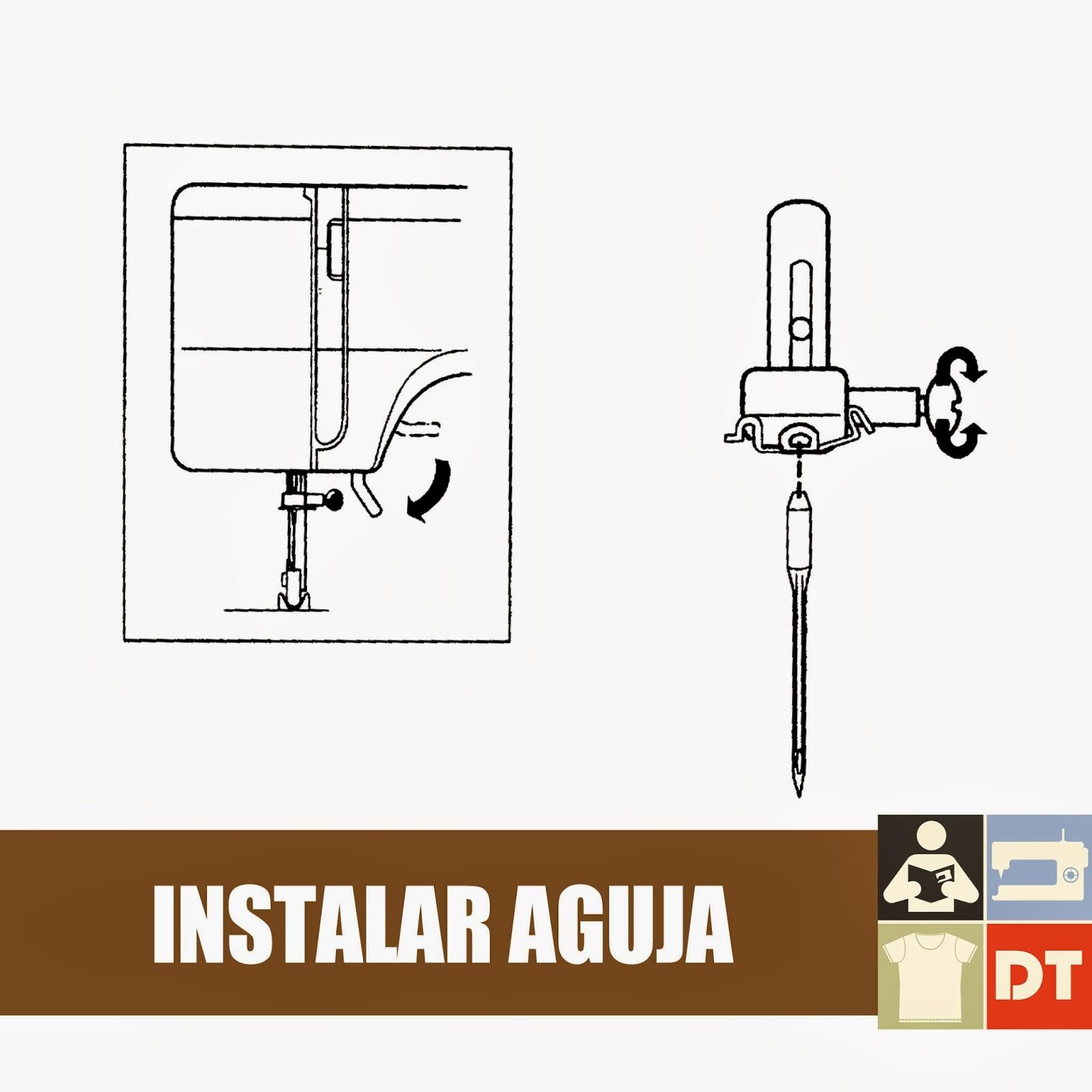 Coser a máquina: Cómo cambiar o instalar una aguja - Coser