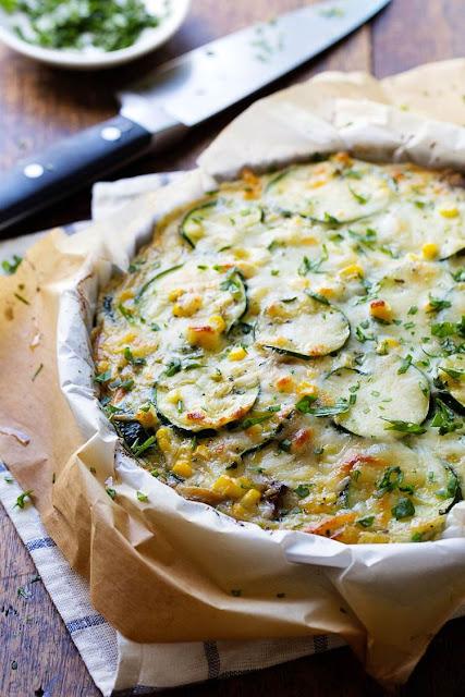 http://pinchofyum.com/sweet-corn-zucchini-pie