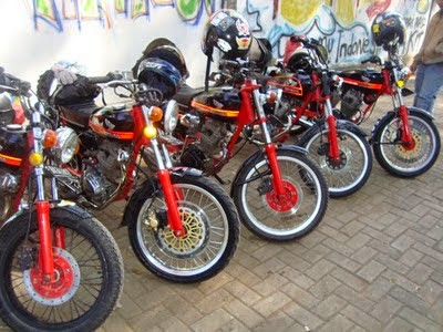 Modifikasi Honda CB 125 Bandung