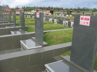 1 góc phần mộ của nghĩa trang siêu sang nửa tỷ đồng