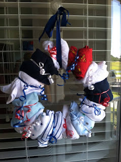 Nautical by Nature: Nautical Baby Shower onesie wreath