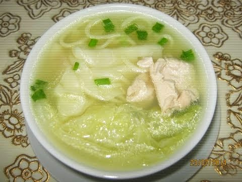 Sopa de Pollo a la Minuta