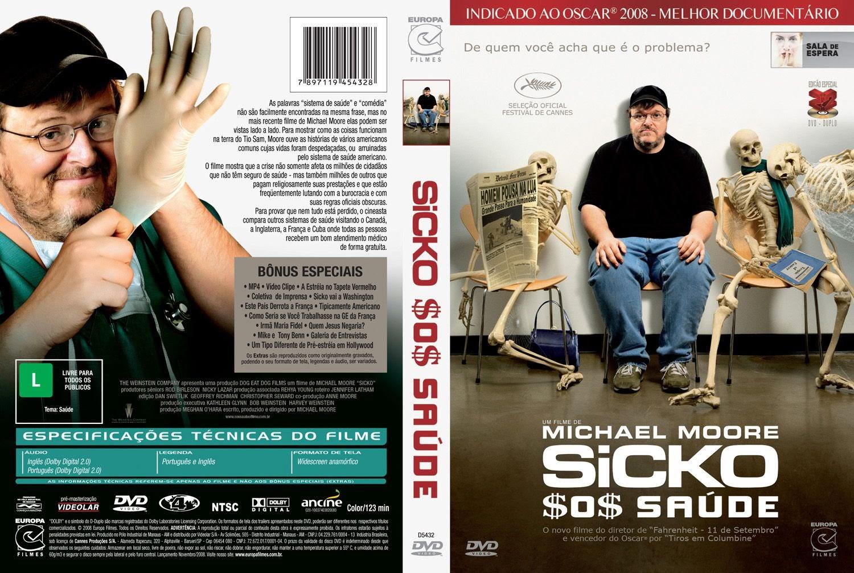 Capa DVD Sicko $O$ Saúde