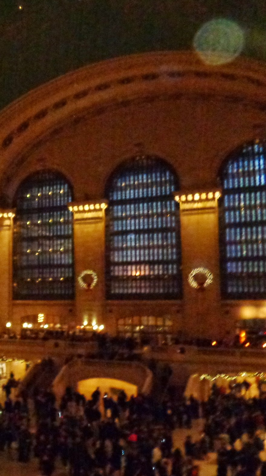 green orb in Grand Central Station
