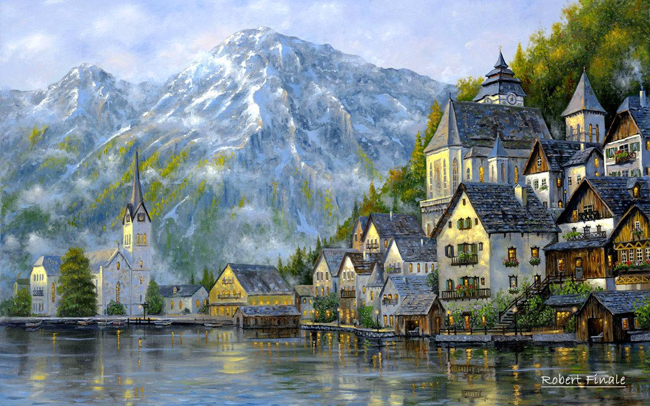 Top pic art blog landscape oil paintings of robert finale for Oil painting scenery