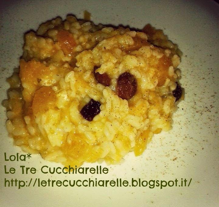 risotto saporito con la zucca, feta greca e olive di gaeta!