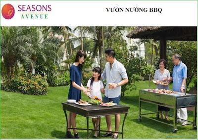 Vườn nướng BQQ - Seasons Avenue - Mỗ Lao
