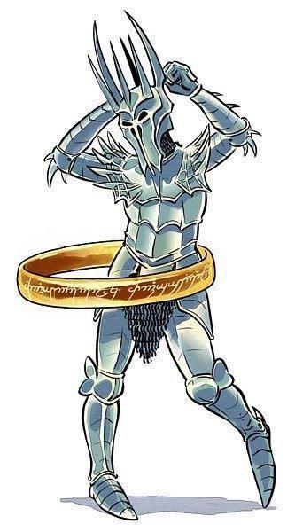 Sauron baila el Hula Hop con el anillo único