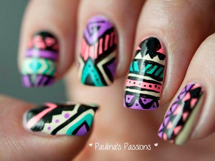Digital Nail Art Designs Ideas #1.