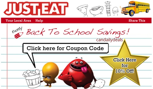 Just eat coupons september 2019