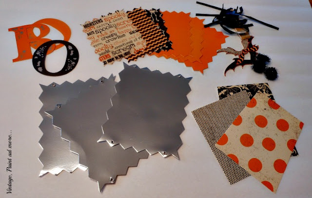 Vintage, Paint and more... parts to make a BOO sign
