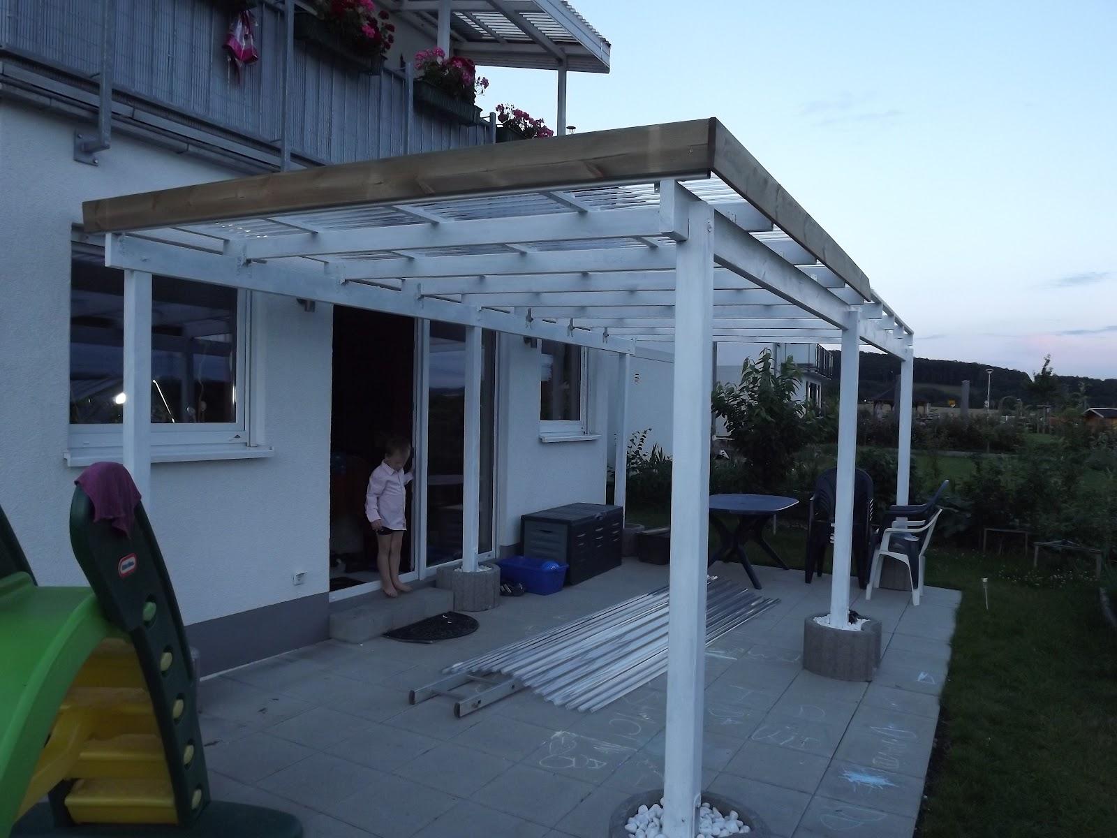 TerrassenUberdachung Holz Firmen ~ Fast fertig es fehlen noch 2 Dachplatten ( habe mich für PET 107 x