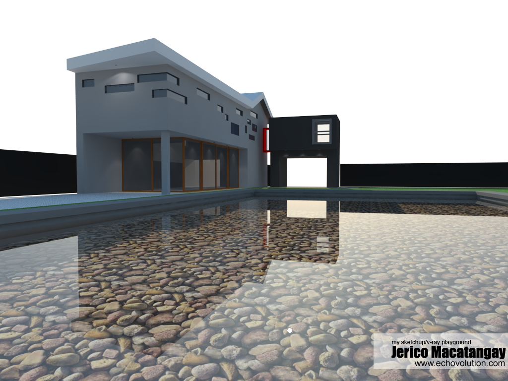 Modern house design 1 with ies lighting