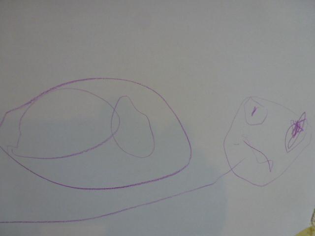 Daarna ontstond er plots een prachtige slak op papier! En ze is dan ...