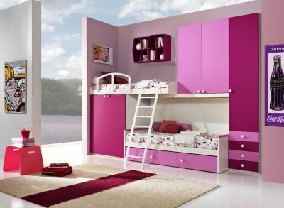 diseño dormitorio rosa