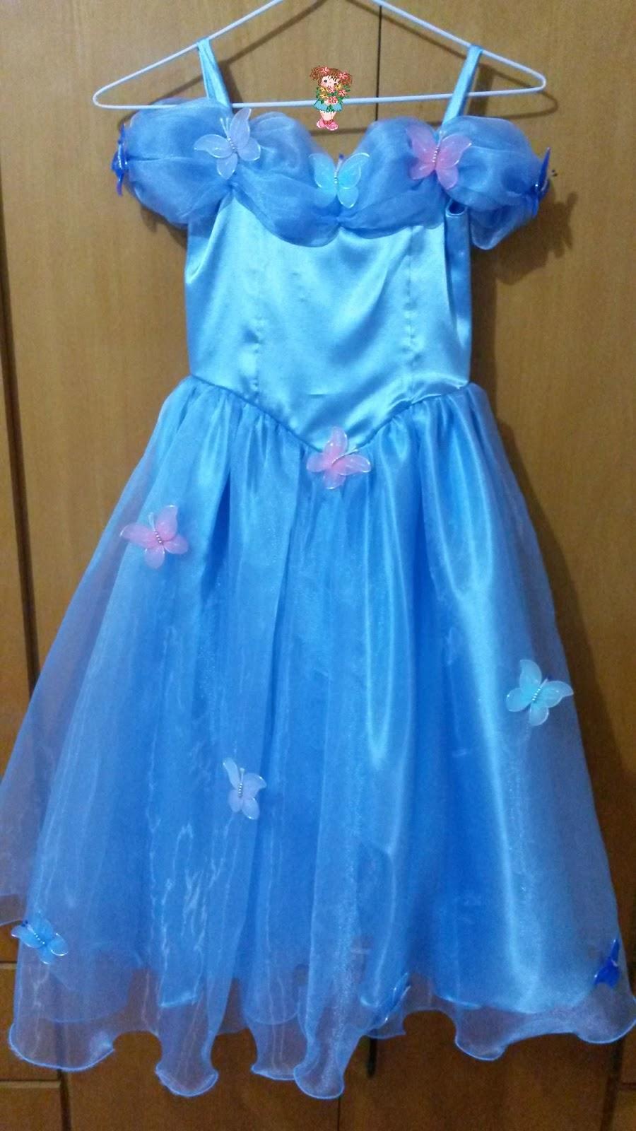 cris flores lembrancinhas vestido cinderela decorado com borboletas