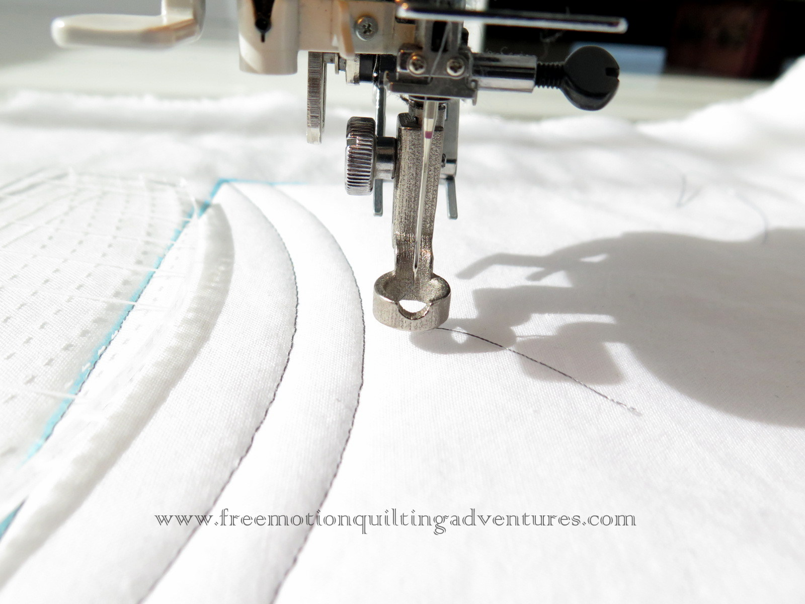 ruler foot for sewing machine