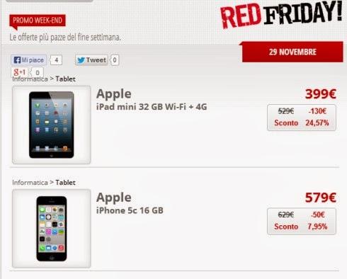 Torna la promozione Red Friday per festeggiare il Black Friday con alcune offerte su prodotti Apple da parte di Mediaworld