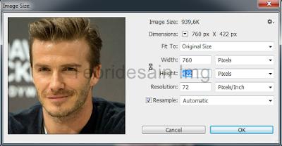 Perintah setting image size