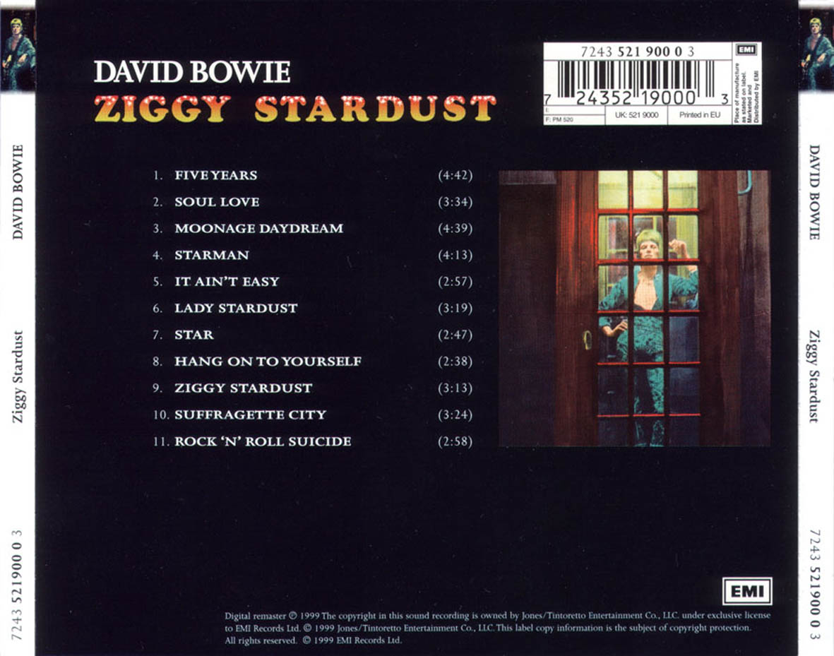 The rise and fall of ziggy stardust and the spiders from