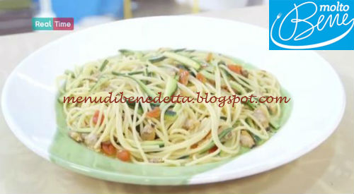 Spaghetti vongole zucchine e pomodorini ricetta Parodi per Molto Bene