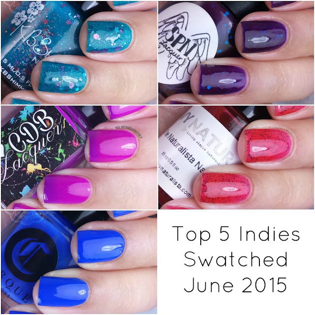 Top 5 Indies Swatched - June 2015