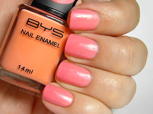 BYS Colour Change Nail Enamel in Salmon