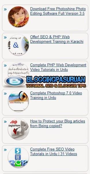Cara Modifikasi Tampilan Popular Post Bawaan Blogger ( Default ) Dengan CSS3