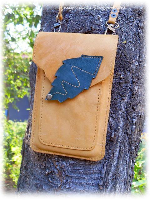 сумочка-чехол для телефона своими руками из кожи