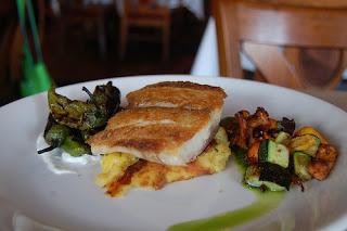 Striped bass dish