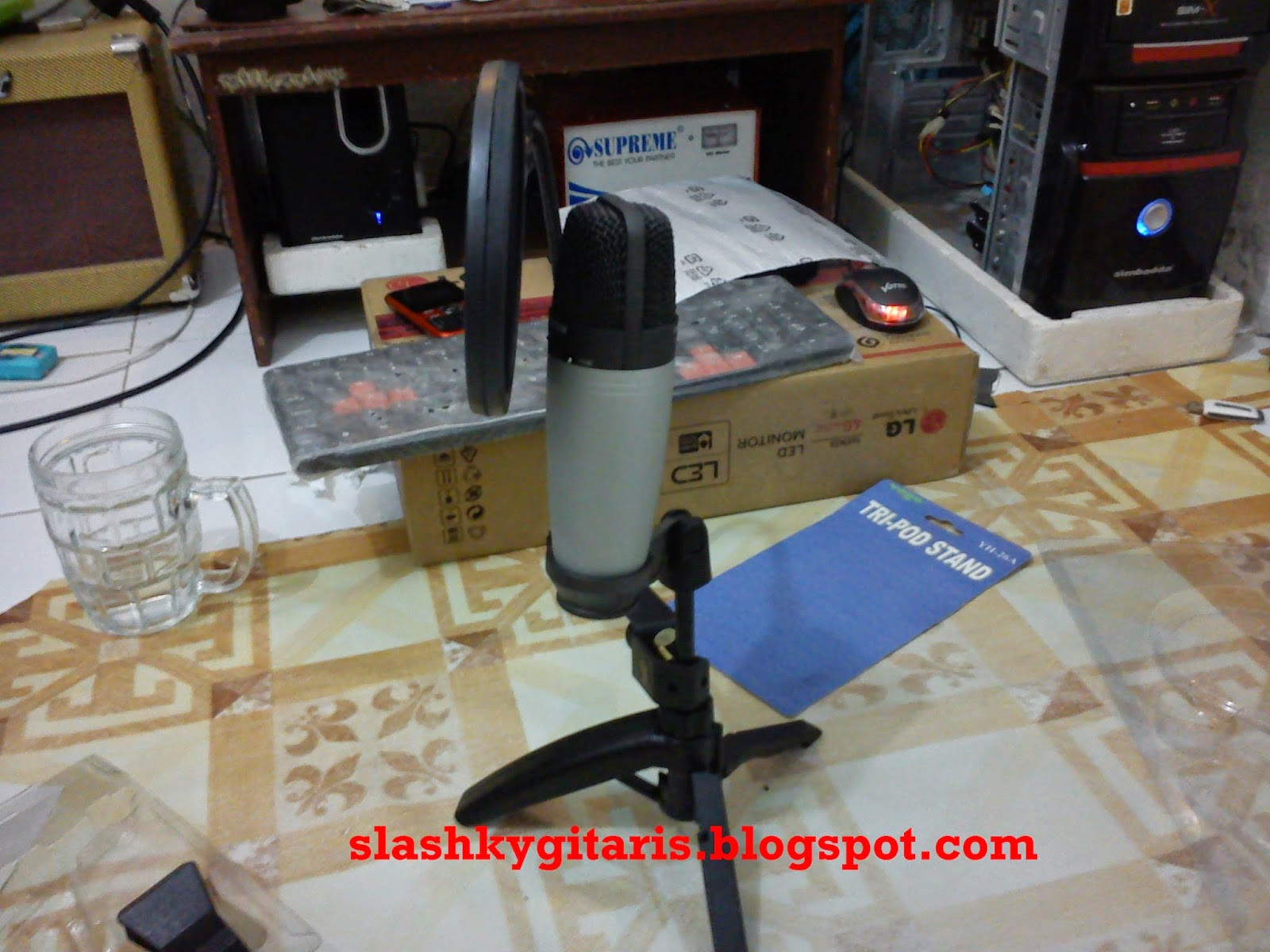 home recording, Samson C03, Pop Filter Samson PS01, Canare, Neutrik, Stand Tripod, BFD2,