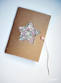 Reciclatex Cómo personalizar una libreta con dibujo de estrella