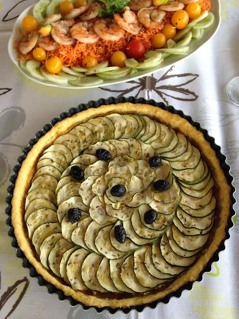 Sweet Kwisine, féta, tomates, courgette, poisson, marlin