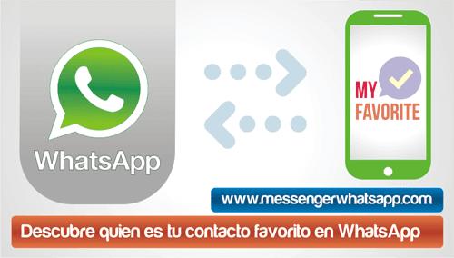 Descubre quien es tu contacto favorito en WhatsApp