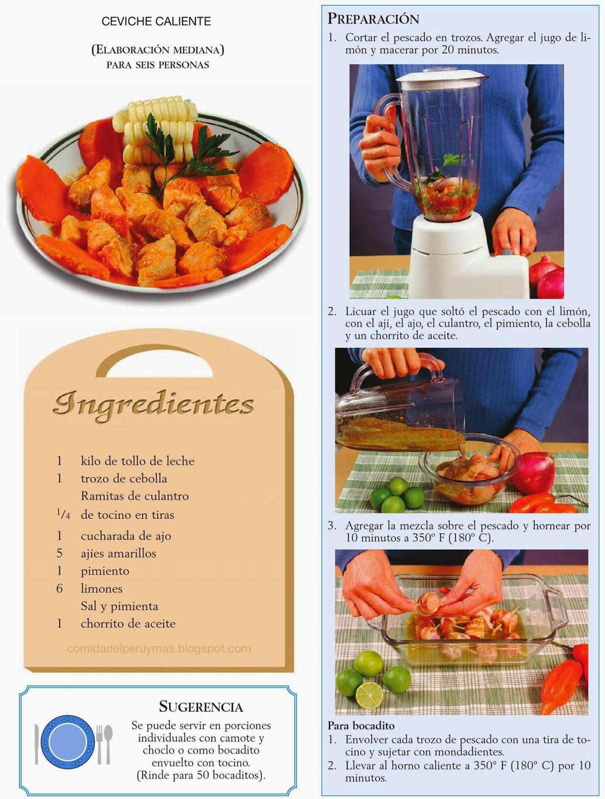 receta del ceviche peruano ingredientes