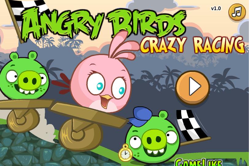 لعبة سباق الطيور الغاضبة