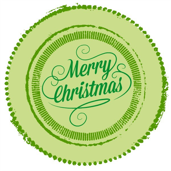 Free Merry Christmas Printable from Blissful Roots