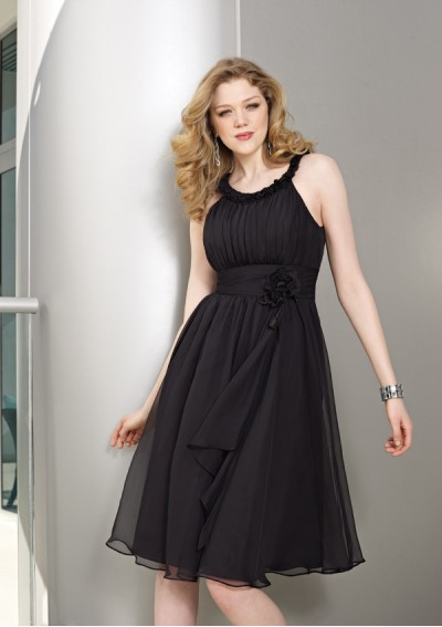 black short summer maternity dress