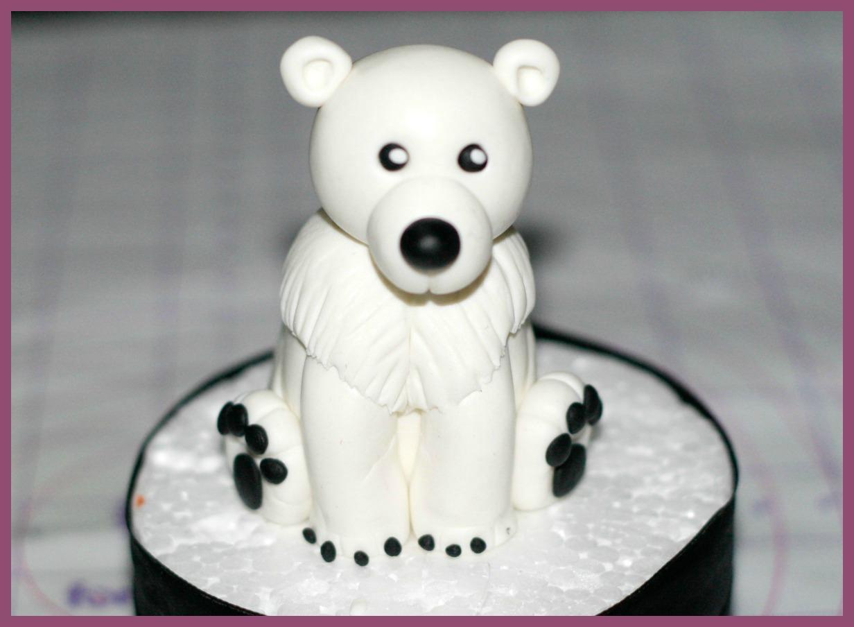 oso polar de fondant
