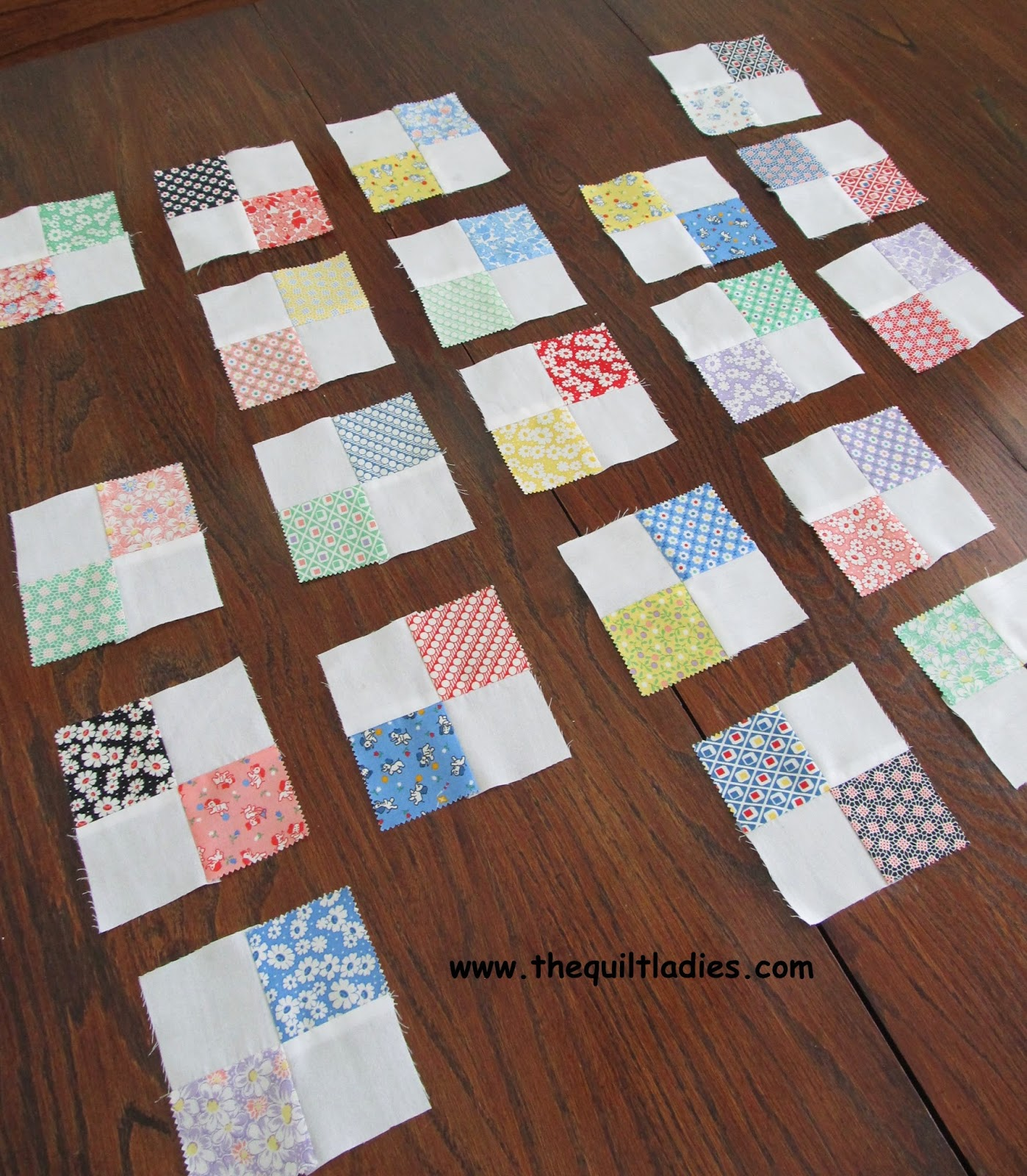 tutorial on how to make a 4-patch quilt