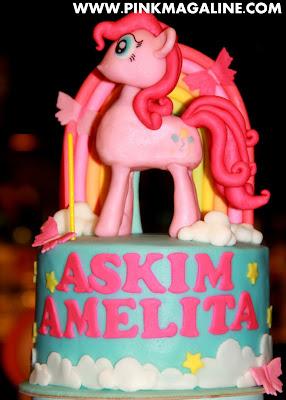 Pinkie Pie Fondant Cake Cupcake Tower