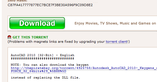 the pirate bay magnet link not working utorrent