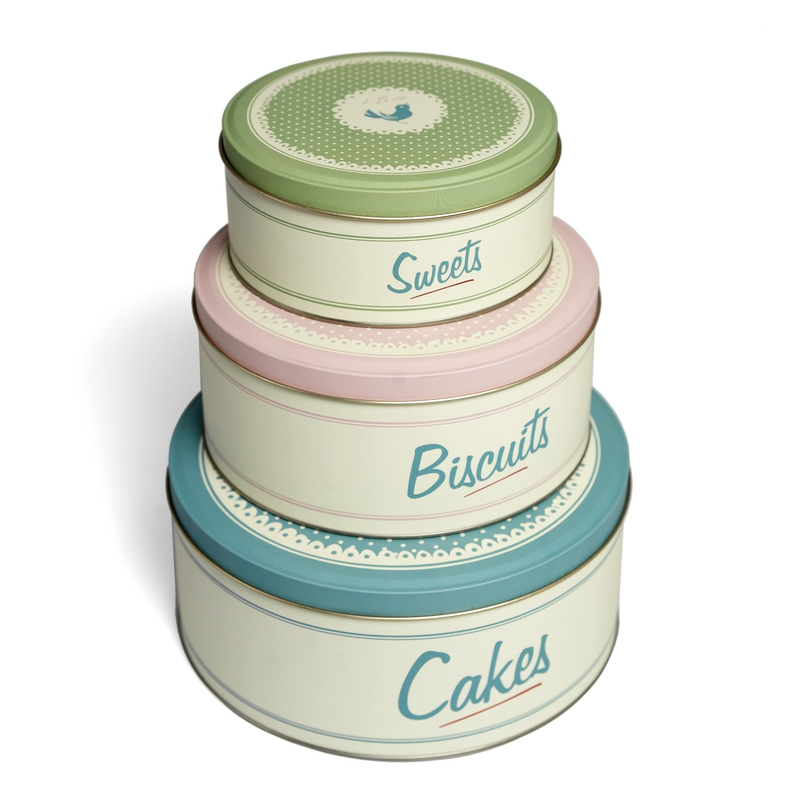 Something A Little More Vibrant For The Kitchen Yet Still Retaining The  Retro Look, The Argos Living Cake Tins (£9.99) Are Another Really Cute Set.