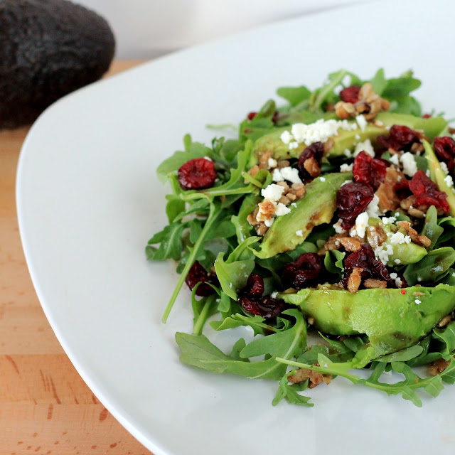... Happy: Cranberry Avocado Salad with Candied Sunflower Seeds