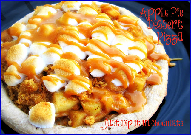 Just Dip It In Chocolate: Apple Pie Dessert Pizza Recipe