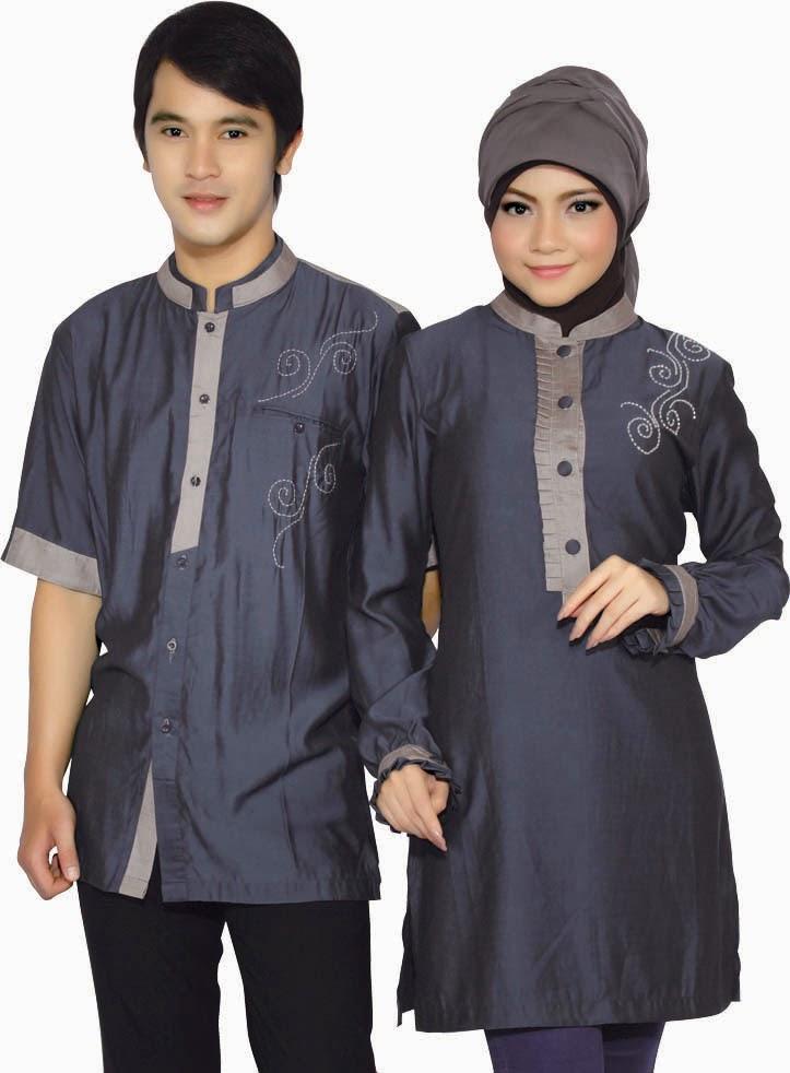 gambar baju muslim sarimbit modern terbaru
