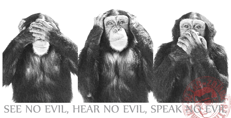 Image result for images of three monkeys of see no evil, hear no evil, speak no evil