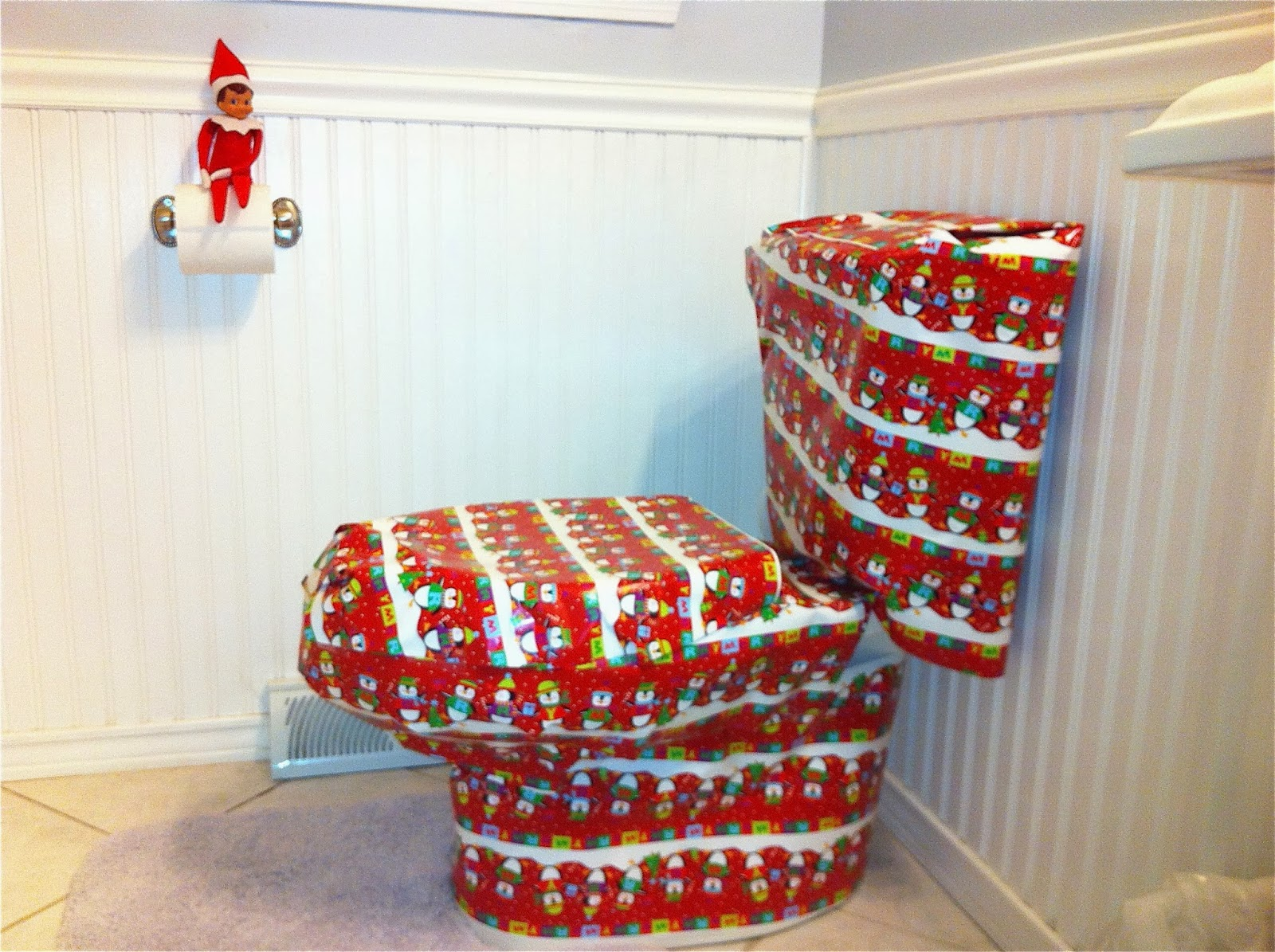 The christmas blog 2017 december 2013 for Elf on the shelf bathroom ideas