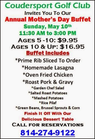 5-10 Mother's Day Buffet, Coudersport